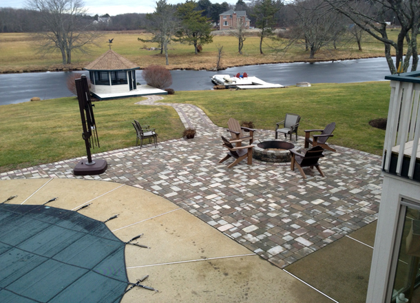 Walkway, Patio, and Fire pit