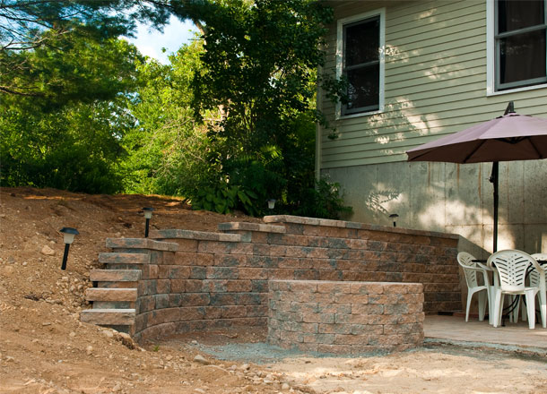Patio, Fire Pit and Wall Rehoboth, MA