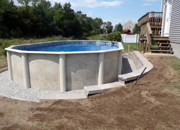 Pool Retaining Wall