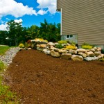 Rock Wall and Landscaping