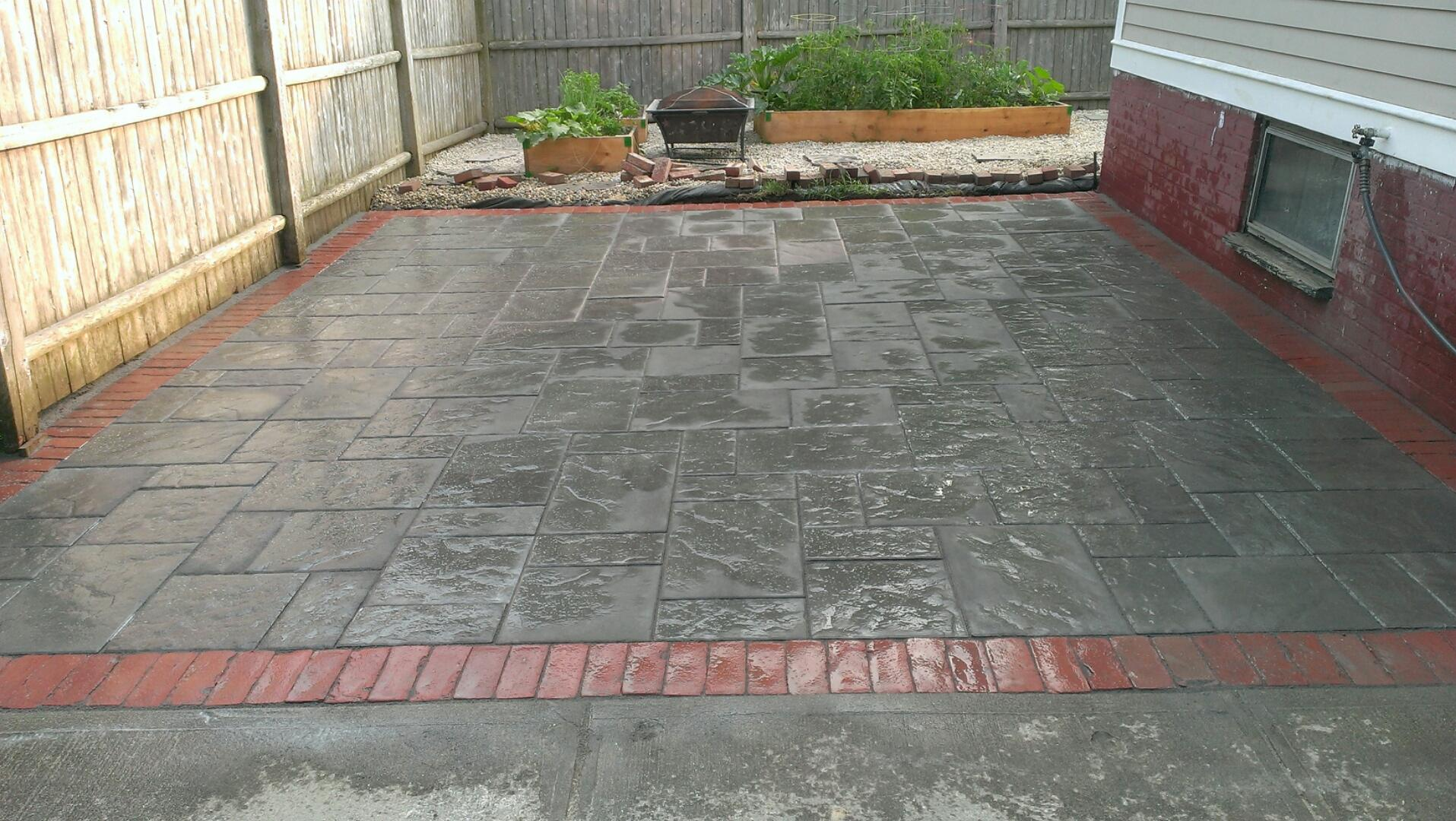 Brick Lined Patio