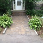 Cobblestone Lined Walkway & Steps