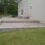 Double Level Patio, Wall, Granite Steps & Firepit