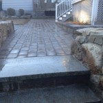 Granite Stairs, Walkway & Small Wall