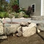 Rock Wall, Patio & Firepit