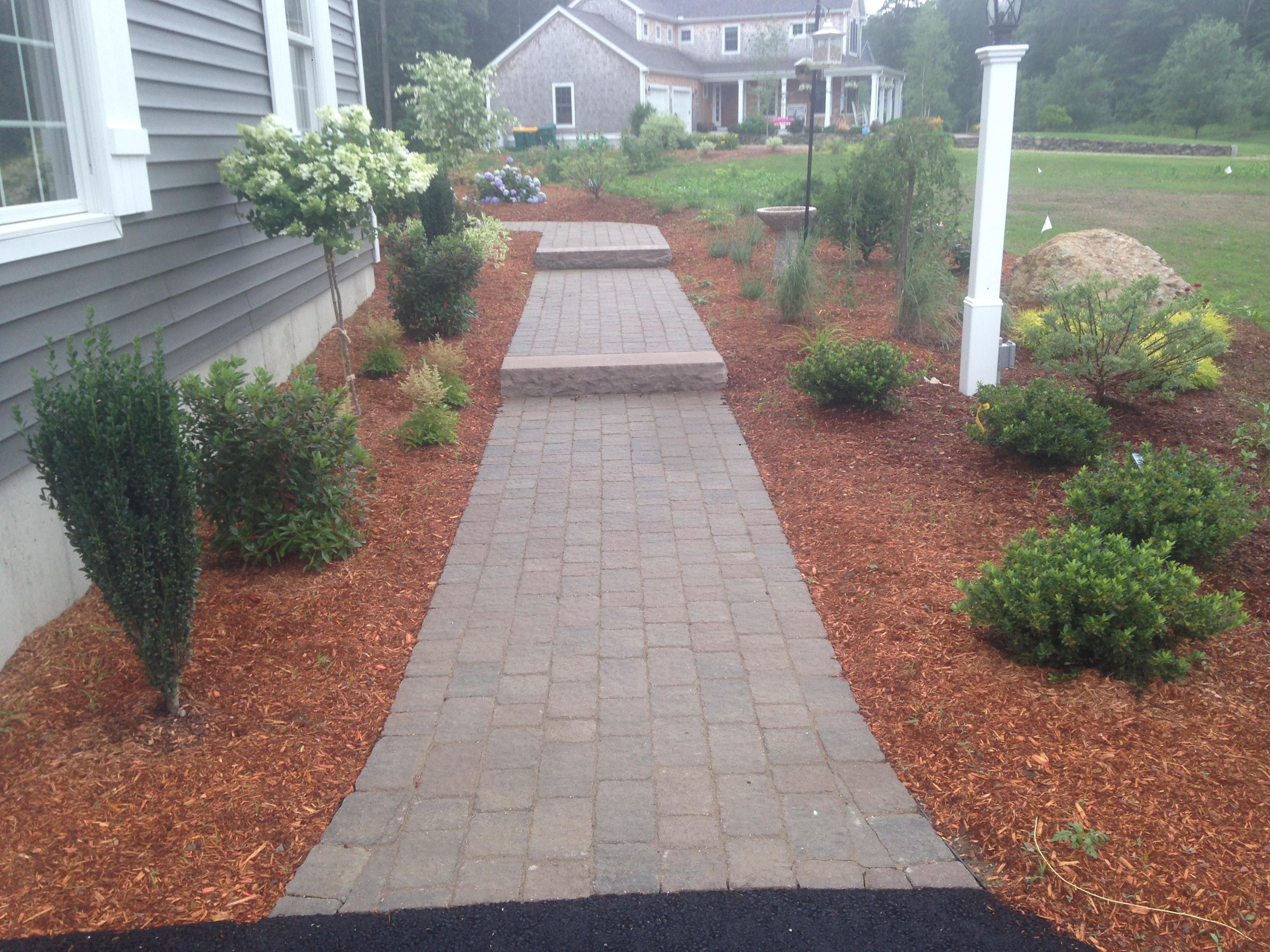 Walkway & Planted Beds