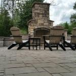 Patio, Wall & Fireplace