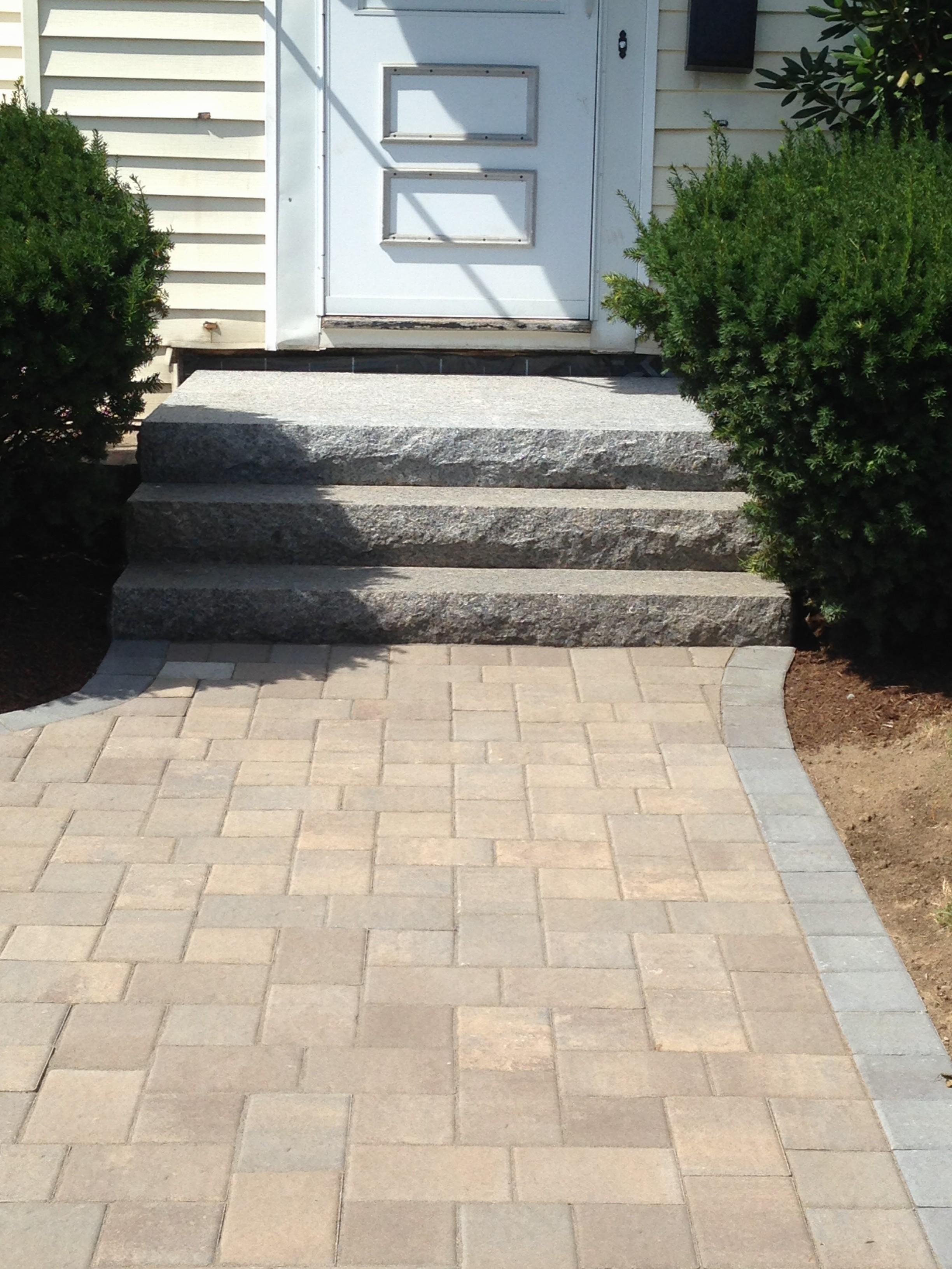 Walkway & Granite Steps